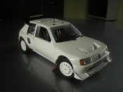 Peugeot 205 miniature Turbo 16 plain body T16