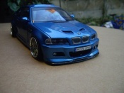 Bmw M3 E46 tuning kit carrosserie blau metallise