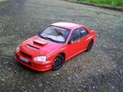 Subaru Impreza WRX  2005 rouge jdm Solido