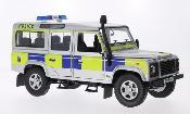Land Rover Defender 110 County Station Wagon Police (GB) grigio RHD 2004