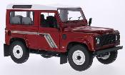 Land Rover Defender 90 Station Wagon rosso/bianco RHD