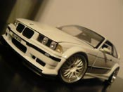 Bmw M3 E36 GTR white wheels bbs big offset