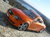 Audi TT coupe s-line arancione ruote 19 pollici