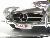 Mercedes 300 SL finition interieure et exterieure