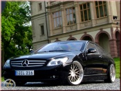 Mercedes Classe CL black wheels bbs big offset 19 inches