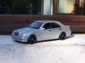 Mercedes tuning Classe C 36 amg grigio ruote bbs