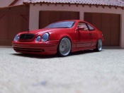 Mercedes CLK AMG german look rosso candy