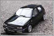 Volkswagen tuning Golf III VR6 noire jantes schmidt
