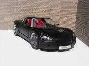 Opel Speedster miniature noir blackhawk
