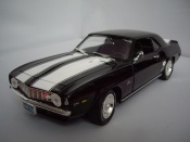 Chevrolet Camaro Z28 1969 black bands whites
