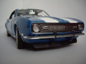 Miniature Muscle car Chevrolet Camaro Z28 1969 dz 302 bleue