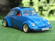Volkswagen Kafer coxinelle blue wheels bbs