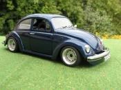 Volkswagen Kafer   coxinelle bleue foncee Solido