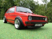 Volkswagen Golf 1 GTI jantes ATS 13 inches red
