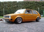 Miniature German Look Volkswagen Golf 1 GTI jantes BBS tuning orange