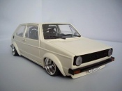 Miniature German Look Volkswagen Golf 1 GTI jantes Tramont tuning