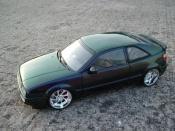 Volkswagen Corrado miniature VR6 verte cameleon