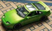 Nissan 300 ZX fairlady green wheels style bbs blacks