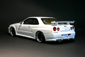 Nissan Skyline R34 blanche gt-r nismo