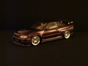 Nissan Skyline R34  z-purple Autoart 1/18