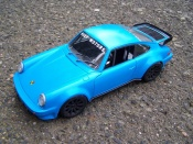 Porsche tuning 930 Turbo blu