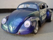 Volkswagen Kafer Drag Run  cox 58 purple bullet Solido