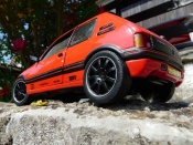 Peugeot 205 miniature GTI 1.9 Rouge Vallelunga preparation racing