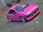 Peugeot tuning 206 CC rose satine wheels bbs