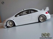 Peugeot tuning 307 WRC plain body white wheels bbs