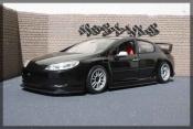 Peugeot 407 miniature Silhouette plain body noir