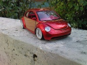 Volkswagen New Beetle   low rider Burago 1/18