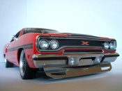 Plymouth GTX   426 hemi gtx in rallye red GMP
