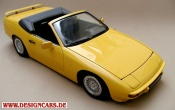 Porsche 924 convertible yellow