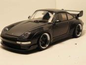 Porsche tuning 993 GT2 titanium silver wheels a deport