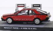 Renault Fuego miniature rouge/noire James Bond 007