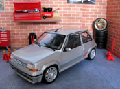 Renault tuning 5 GT Turbo phase 2 gray wheels speedline