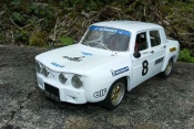 Renault 8 Gordini white wheels larges et kit body dinacar