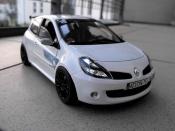 Renault Clio 3 RS  f1 team blanc glacier Solido
