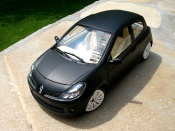 Renault Clio 3 RS black mat wheels c4 wrc