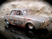 Renault Dauphine miniature drag strip a moteur vw prepare