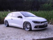 Volkswagen tuning Scirocco 3 r white wheels 19 inches