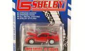 Shelby GT miniature 500 KR rouge mit grisenen Streifen 2008