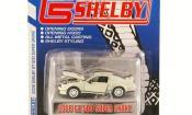 Shelby GT miniature 500 Super Snake blanche mit noireen Streifen 2008