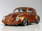 Volkswagen tuning Kafer coccinelle ovale arancione burn