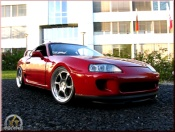 Toyota Supra red wheels 8j x 18 aluminum hmc
