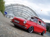 Volkswagen 1600   red avec brm wheels Sun Star