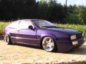 Volkswagen Corrado miniature VR6 peinture violet avec paillette