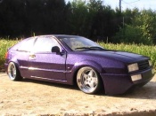 Volkswagen tuning Corrado VR6 peinture violet avec paillette