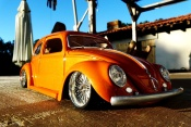 Volkswagen tuning Kafer 1955 cox low ride arancione