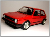 Volkswagen Golf 1 GTI red wheels 15 inches ronal turbo